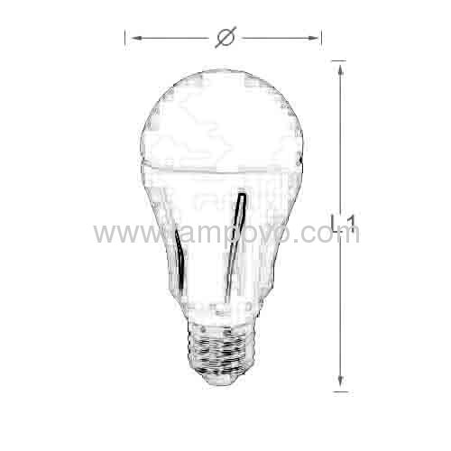 10W E27 dimmable Led bulb light