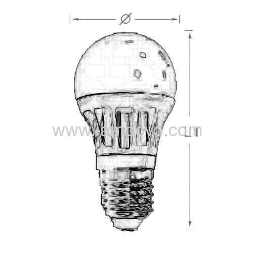 E27 5W 500lm Led bulb light