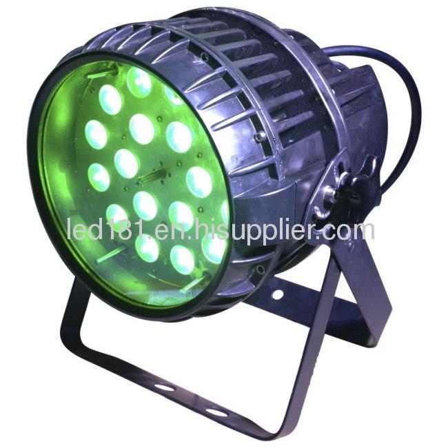 18X10W RGBW 4IN1 Outdoor Zoom LED Waterproof Par Light