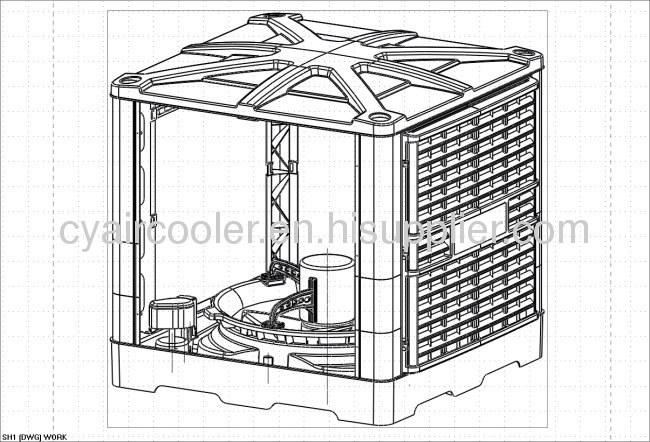 2013 New 30000 M3 H Airflow Ductable Evaporative Air