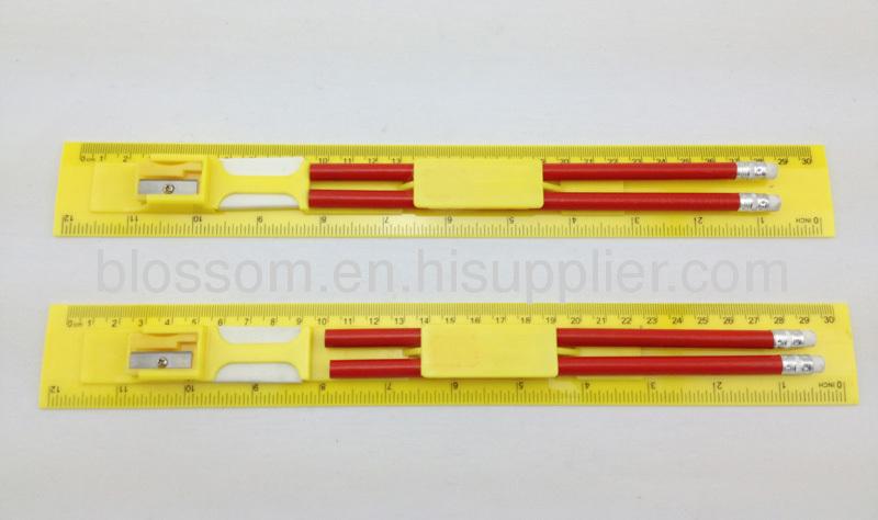 Stationery set,eraser pencil ruler sharpener stationery set,promotional gft