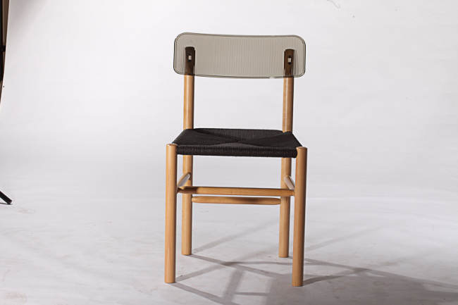 beech frame cord seat PC back comfortable side chairs