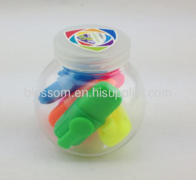 5pcs in 1 mini highlighter pen multicolor highlighter pen Hot selling Mini highlighter