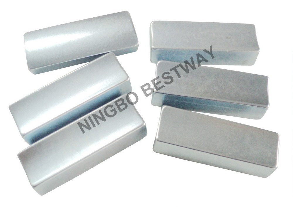 N35H R37.75xr28x47Lx14.36mmArc NdFeBMagnet with Zn coating