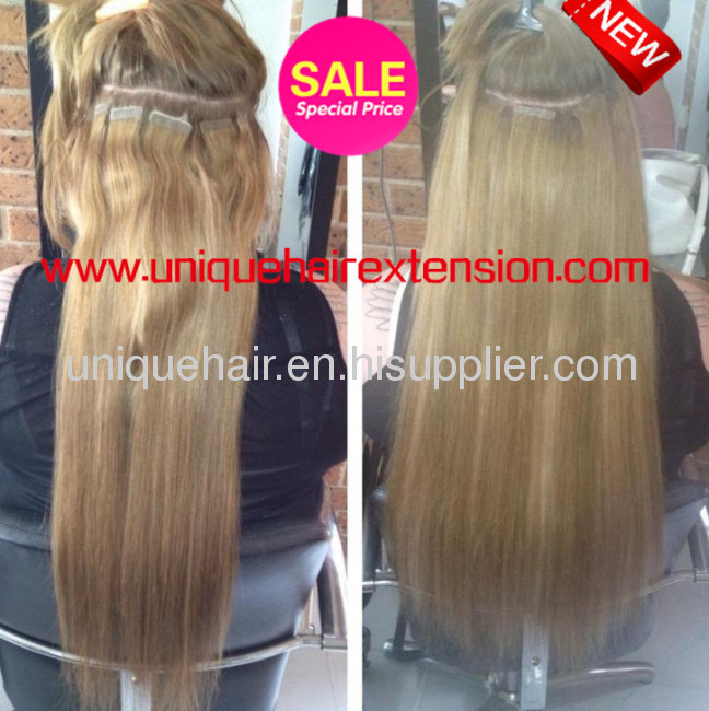 Tape hair extensions from china manufacturer qingdao unique hair pre tape hair extensions pmusecretfo Gallery