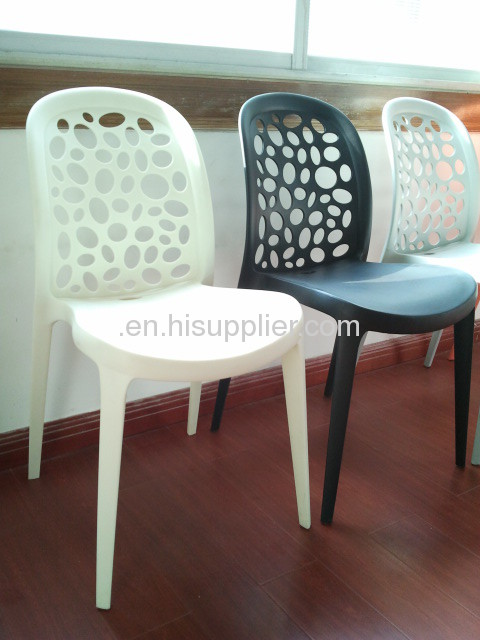 single plastic mould injection PP material hollowed-out side leisure chairs
