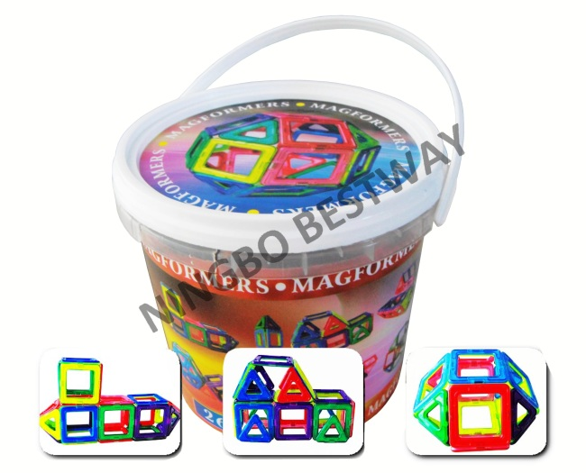 26pc 3-D Magnetic Intelligence Building Set