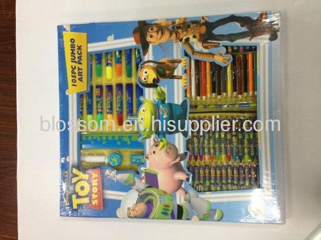 toy story3 105pcs jumbo art pack for kids jumbo drawing set