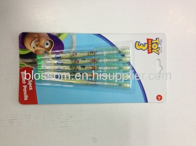 toy story3 stationery set for kid 5pcs bullet pencils gift stationery sets