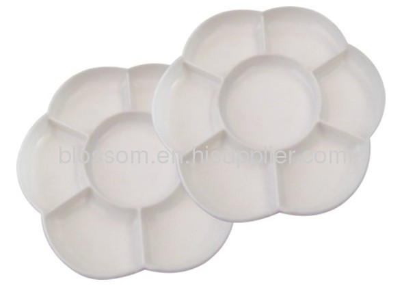 Plastic promotional flower Palette drawing plastic palette with PP material