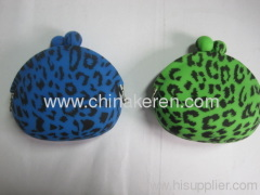 Fashion silicone wallet with Leopard logo