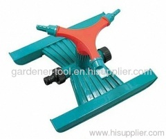3 arm garden water sprinkler with H base