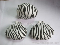 Silicone coin purse white zebra logo