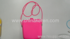 2013 fashion silicone pink satchel