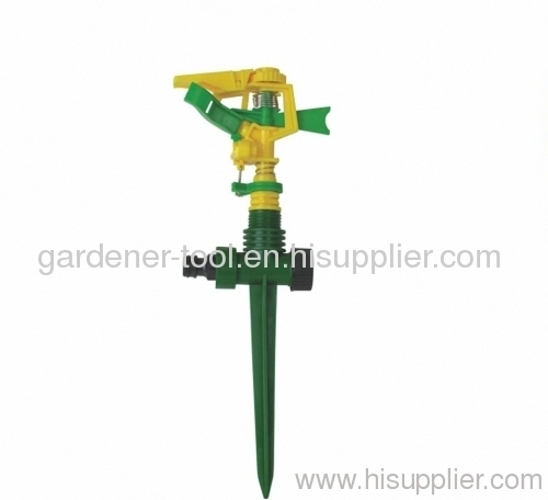 Plastic Yard Impulse Sprinkler With Plastic spike