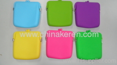 Silicone satchel with embossed flower pattern