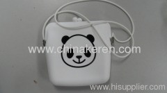 fashione Silicone white bag with printed logo