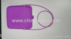 fashione purple Silicone kitbag