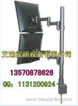Description: Double Screen LCD Bracket, Clamped, Height can be adjustable