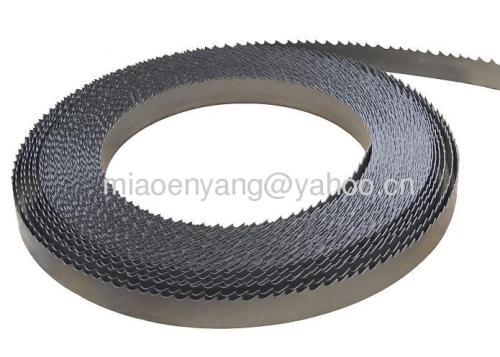 Bimetal bandsaw blade cut metal