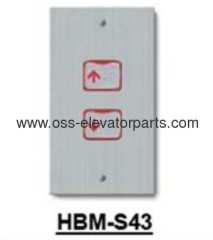 "Landing operating panel HBM-S43 with push button ""up"" Sigma 115*200mm"