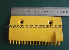LG escalator -Right Comb 159x90x90 17 teeth yellow plastic