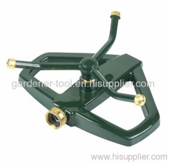 3 arm rotary water sprinkler with zinc base