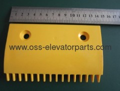 LG escalator -middle Comb 145x90x90 16 teeth yellow plastic