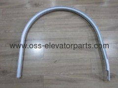 Sigma SCE aluminum curved balustrade guide L=1740mm, H=55mm
