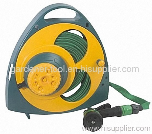 50FT Garden Flat Hose With Plastic Reel