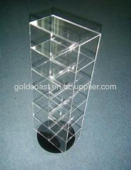 Rotary floor acrylic pos display stands