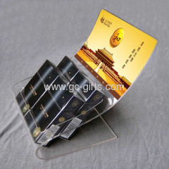 Clear acrylic countertop cigarette display racks