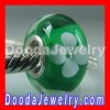cheap 925 Silver Core european Flower Lampwork Glass Beads wholesale