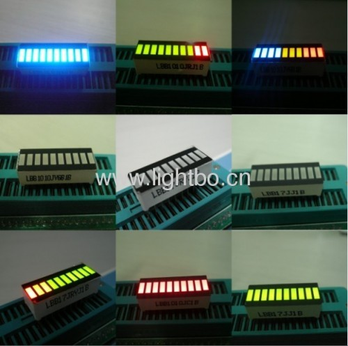 Super Bright Green/Yellow/Red 10 Segment LED Light Bar