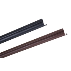 PVC Cable Riser Guard U-guard in black and brown