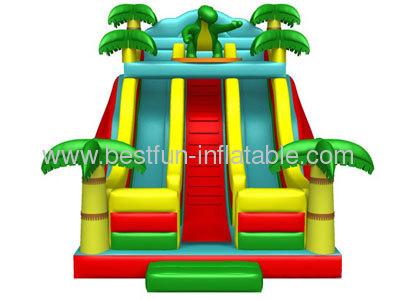 Dino Sun Inflatable Slides
