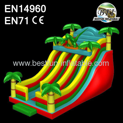Inflatable Dino Tropical Slides