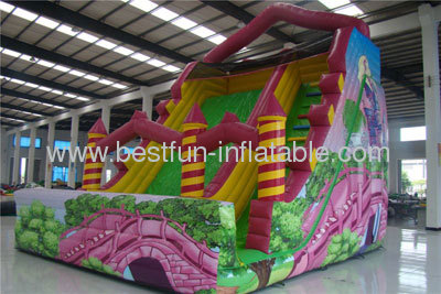 Girl Inflatable Tale Slides