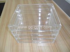 Clear 4 drawers acrylic makeup boxes