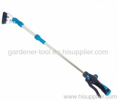 plastic multifunction water wand for garden irrigation.