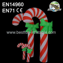 Inflatable Led Light Candy Cane