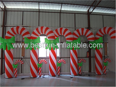 Lighting Decorative Inflatable Candy Cane
