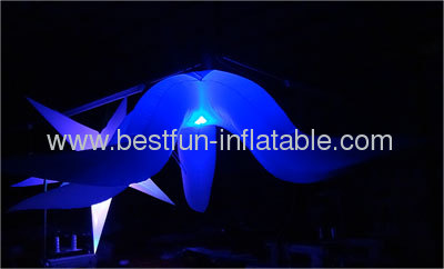 Hanging Lighted Inflatable Club Flower Decor