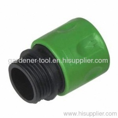 Plastic garden hose male quick connector