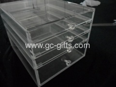 clear 4 drawers acrylic display boxes