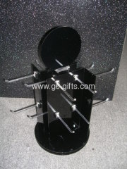 Black acrylic jewelry display racks