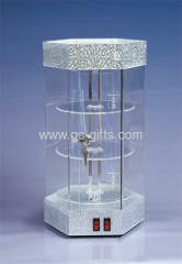 Lockable hexigon acrylic display cabinets for valuables