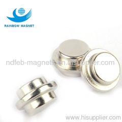 strong round button rare earth permanent manget