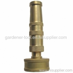 Brass garden water nozzle with female inlet