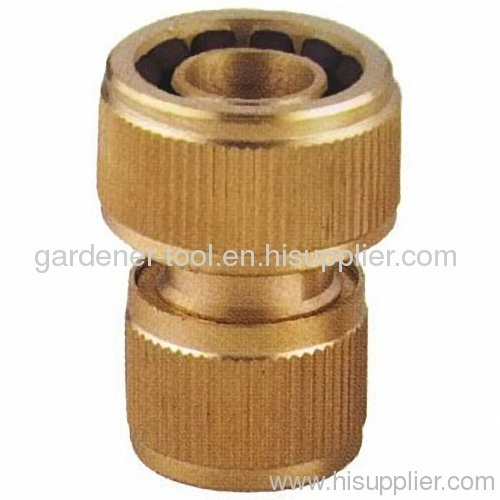 Brass garden hose coupling